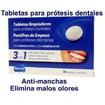 TABLETAS LIMPIADORAS PARA PROTESIS DENTALES